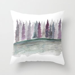 Spruce Tress by the Lake II Throw Pillow