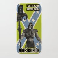 skeletor iPhone & iPod Cases featuring Vote Skeletor by Itomi Bhaa