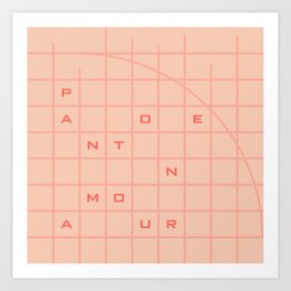 pantone amour Art Print