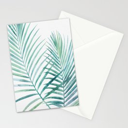 Twin Palm Fronds - Teal Stationery Cards