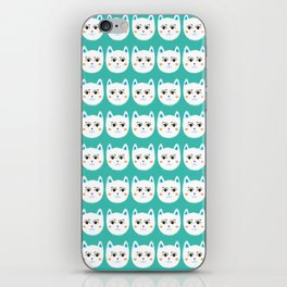 Coy White Kitty Cats iPhone Skin