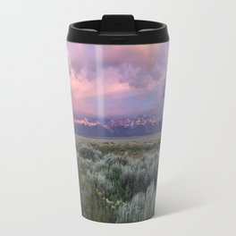 Teton Range Sunrise Travel Mug