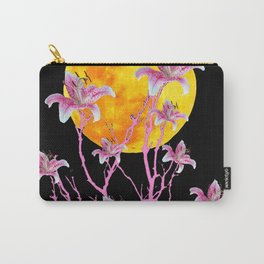 PINK ASIATIC STAR LILIES MOON FANTASY Carry-All Pouch