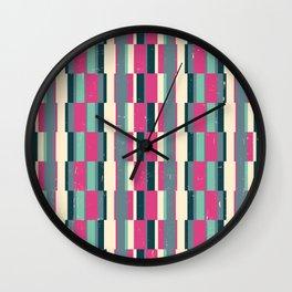 pink n' blue 4 Wall Clock