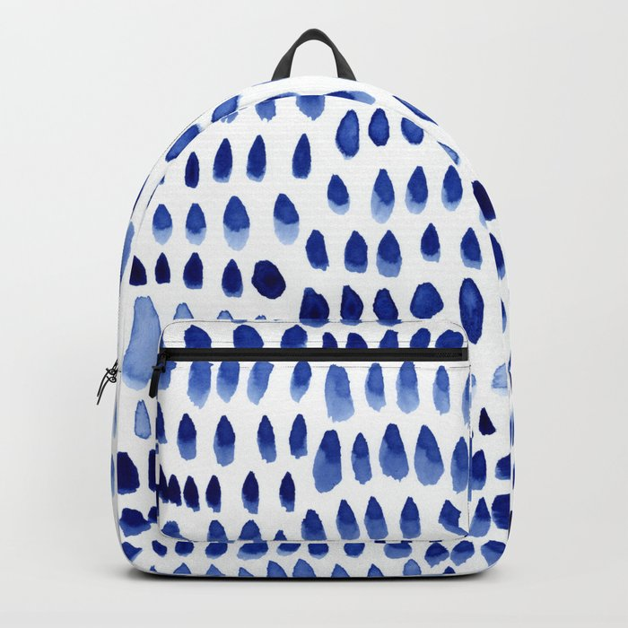 painted dots blue Backpack