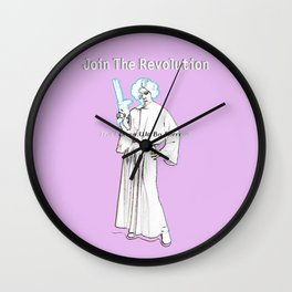 Join the Revolution (2) - by Fanitsa Petrou Wall Clock