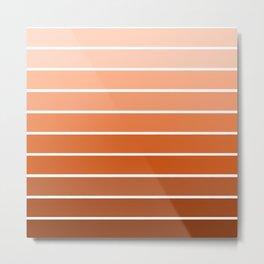 70s Stripe - ombre sunset, sun, sunset, boho, desert, rust, orange, brown, sand, terracotta Metal Print