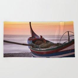 Fishing boat Beach Towel