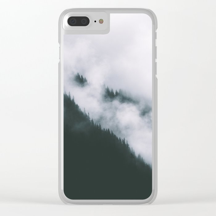 Forest Fog XIII Clear iPhone Case