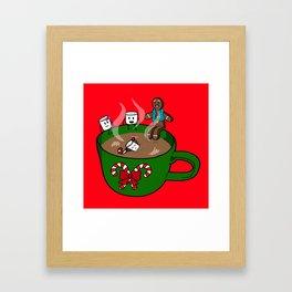 Relaxing Hot Cocoa Framed Art Print