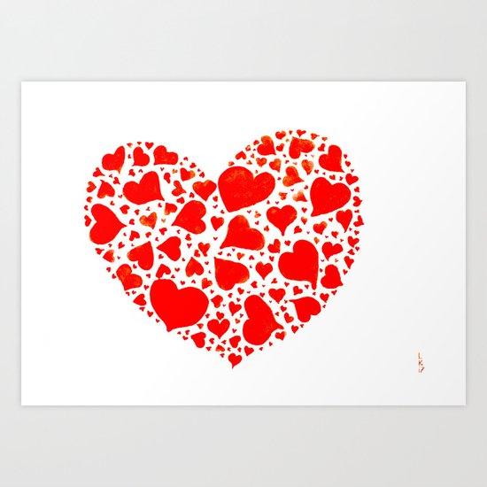 So many hearts Art Print