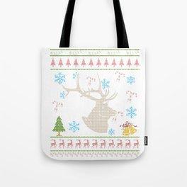 Big Game Elk Hunting Christmas Ugly Holiday Shirt Tote Bag