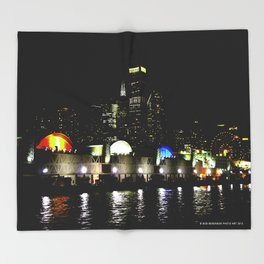 Navy Pier in Living Color: View from the Lake (Chicago Architecture Collection) Throw Blanket
