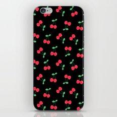 Cherries on Black iPhone & iPod Skin