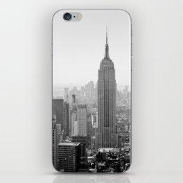 Manhattan - Empire State Building Panorama | B/W iPhone Skin