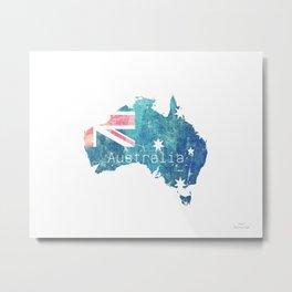 Australia Flag map Metal Print