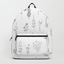 Wildflowers - Grey Flowers Backpack