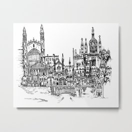 Cambridge, UK Metal Print