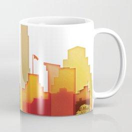 Austin colorful skyline Coffee Mug
