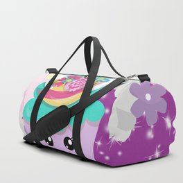 Unicorn Cupcake Sparkles Background Duffle Bag