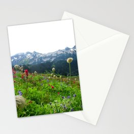 Mountains and Wildflowers, Mount Rainier National Park Stationery Cards