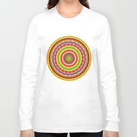 batik Long Sleeve T-shirts featuring Batik Bullseye by Peter Gross