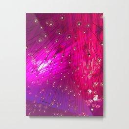 LA Nightclub: Hot Pink Lines Geometrical Abstract Light Show Metal Print