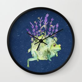 Flora Toad Wall Clock