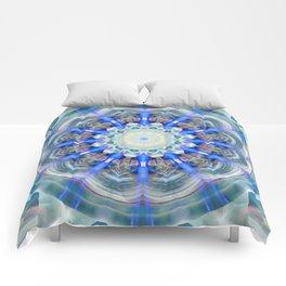Mandala element air Comforters
