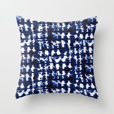 Parallel Indigo Throw Pillow