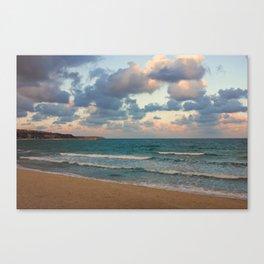 Black Sea Coast near Varna at Dusk Canvas Print