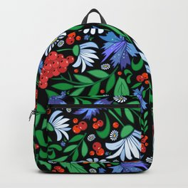 Abstract floral background Backpack