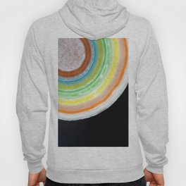 Colorful Abstract Slice of Giant Jawbreaker Candy Hoody