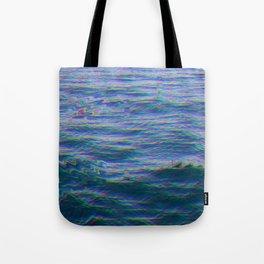 Oceanic Glitches - Dark Horizon Tote Bag