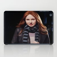 amy pond iPad Cases featuring Doctor Who's Amy Pond by Sara LD