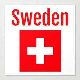 Sweden - Swiss Flag Canvas Print