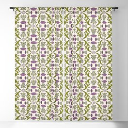 Wild Thistle Meadow Blackout Curtain