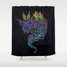 Sea Slug Shaman Shower Curtain