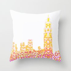 Sunrise Over NYC Throw Pillow