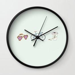 Lunettes Vélo Café  Wall Clock