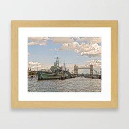 HMS Belfast 2 Framed Art Print