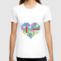 tetris T-shirts featuring Tetris Heart by #dancingpenguin
