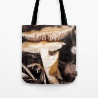 mushroom Tote Bags featuring Mushroom by Alane Gianetti