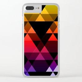Bright Modern Trangles Clear iPhone Case