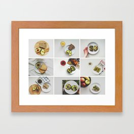 Morning stories - AVOCADO set Framed Art Print