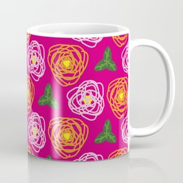 Bright pink floral Coffee Mug