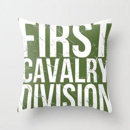 First Cavalry Throw Pillow