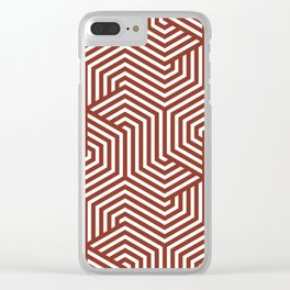 Burnt umber - red - Minimal Vector Seamless Pattern Clear iPhone Case