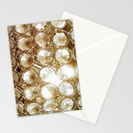 Brilliant Crystals and Gold Tones Stationery Cards