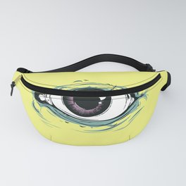 """I See You"" Yellow Pastel Pattern Fanny Pack"